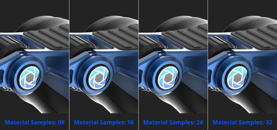 KeyShot side-by-side sample output