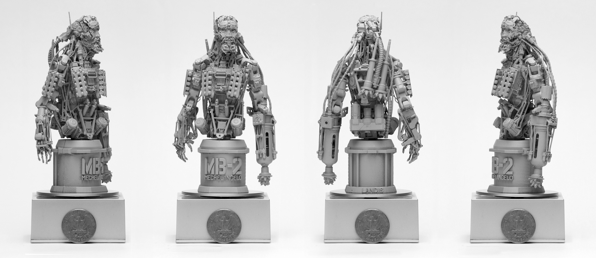 3d prints of Landis Fields' Mechelangelo - Nuthin but Mech: V2