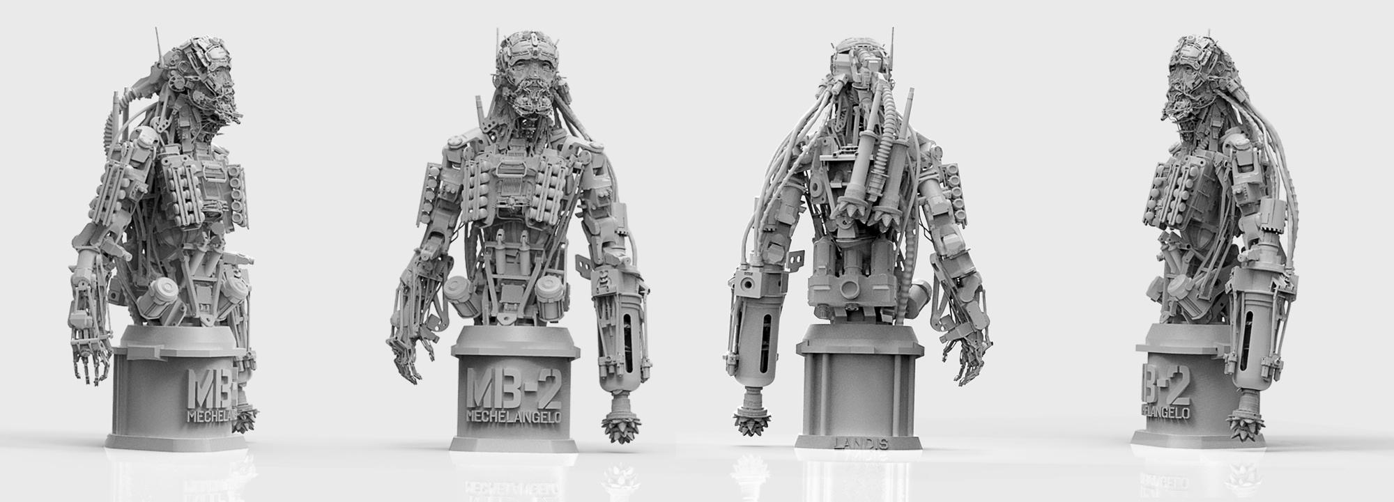 3d renders of Landis Fields' Mechelangelo - Nuthin but Mech: V2