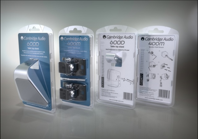 Cambridge Audio - Minx table stand wall bracket in bliaster packaging