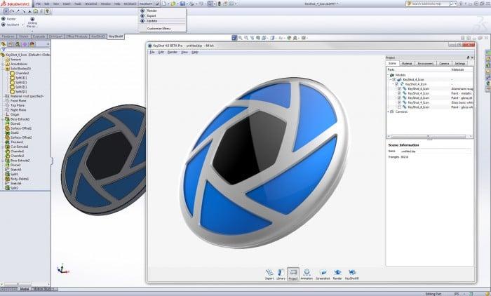 KeyShot Live Linking for SolidWorks