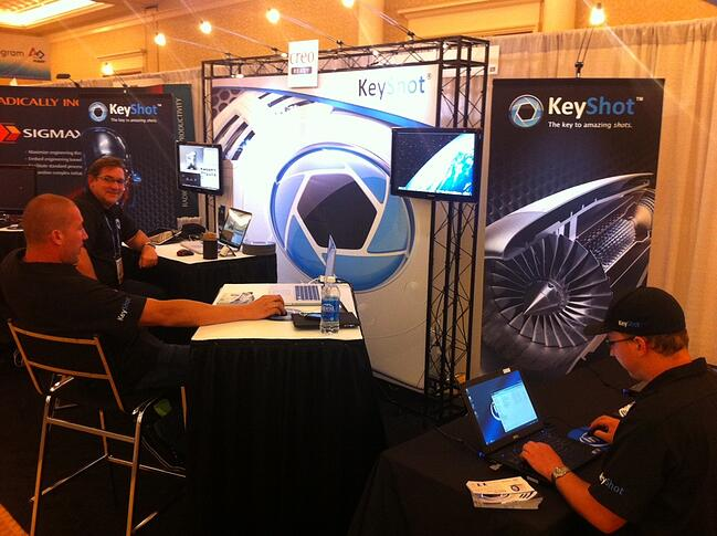 All set up and ready to show the PlanetPTC attendees what awesome rendering is all about.