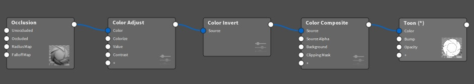 keyshot-toon-material-graph-illustration